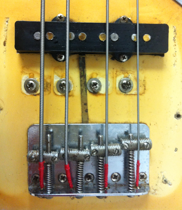 stack knob jazz bass  l a vintage gear danocaster guitars