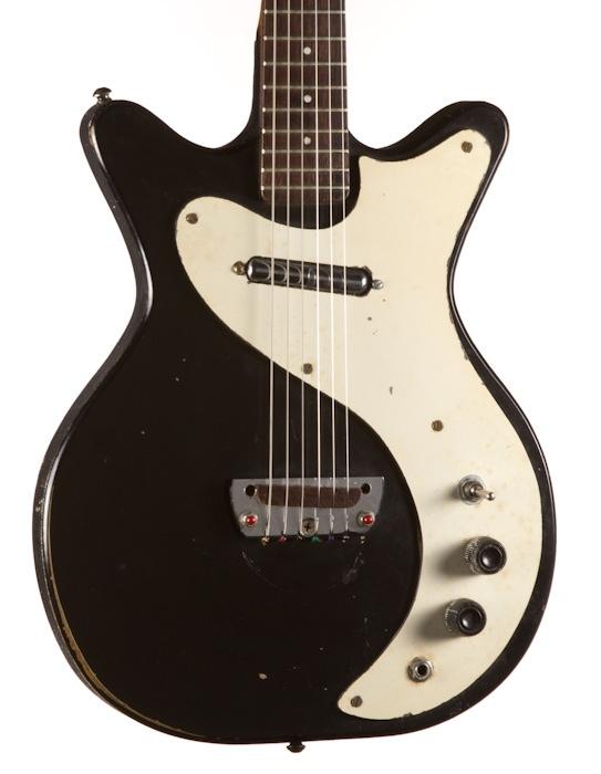 1964 Danelectro Short Horn Standard Black Vintage Orig