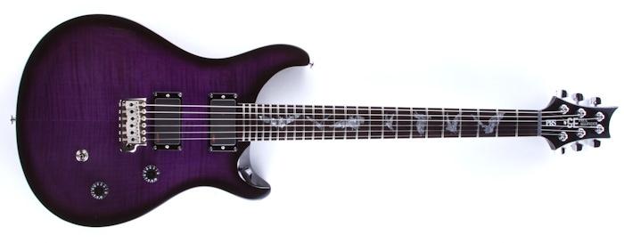 2013 prs se paul allender purple emg pups bat inlays paul reed. Black Bedroom Furniture Sets. Home Design Ideas