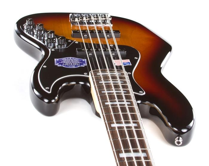 fender american deluxe jazz bass v 5 string bass 3 color sunburst ebay. Black Bedroom Furniture Sets. Home Design Ideas