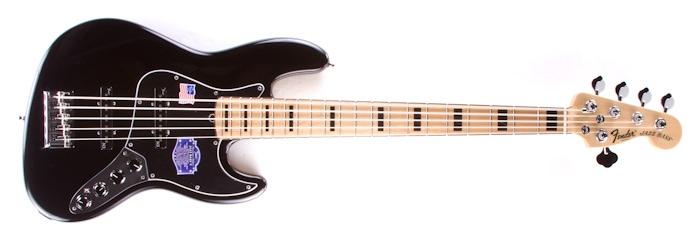 fender american deluxe v 5 string jazz bass black maple n3 noiseless ebay. Black Bedroom Furniture Sets. Home Design Ideas
