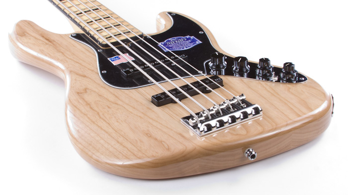 fender american deluxe jazz bass v ash body 5 string natural maple ebay. Black Bedroom Furniture Sets. Home Design Ideas
