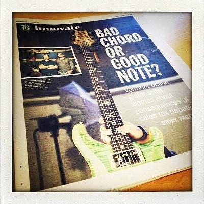 Burlington Free Press - Twang!  Local online music retailer ponders tax proposal