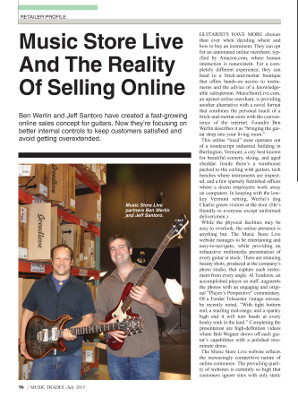 Music Trades - Music Store Live and the Reality of Selling Online